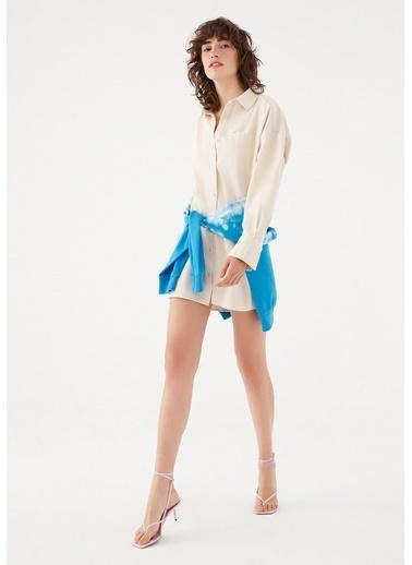 Mavi Maviterranean  Oversize Tunik Elbise Bej